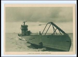 XX14687/ U-Boot bei Ausfahrt gegen England AK ca.1940