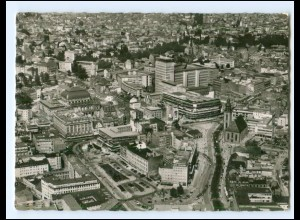 XX13341/ Frankfurt M. Stadtkern AK 1955 Luftaufnahme