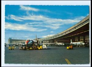 XX13343/ Flughafen Berlin Tempelhof AK 1963 Flugzeug
