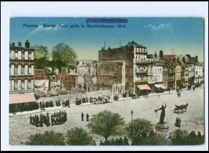 Y18863/ Peronne Grande Place apres le Bombardement 1914 AK Frankreich
