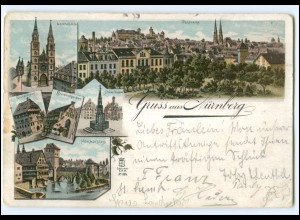 Y18864/ Gruß aus Nürnberg Litho AK 1902