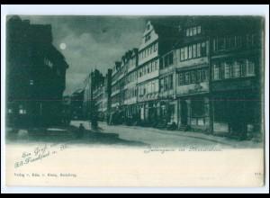 V1669/ Frankfurt Main Judengasse Mondschein Ak ca.1900