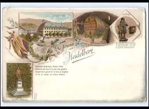 Y18869/ Gruß aus Heidelberg Litho Ak ca.1898