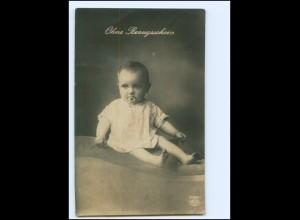 Y18972/ Ohne Bezugsschein Baby mit Schnuller Foto AK 1917 1. Weltkrieg