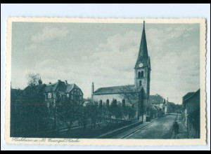 Y18880/ Hochheim a. M. Evangel. Kirche AK ca.1925