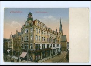 Y19521/ Reichenberg i. B. Hotel Schienhof AK ca.1915