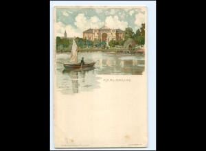 Y18886/ Karlsruhe K. Mutter Litho AK ca.1900