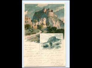 Y18887/ Hohentwiel bei Singen K. Mutter Litho AK 1897