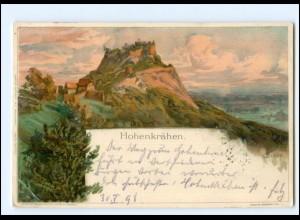 Y18888/ Hohenkrähen bei Singen C. Biese Litho AK 1898