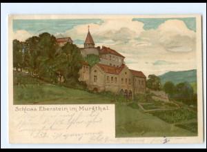 Y18891/ Schloß Eberstein im Murgthal Litho AK 1900