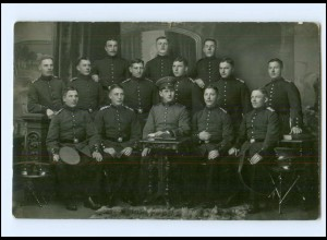 Y18970/ Danzig Soldaten Gruppenfoto Militär Foto AK 1912