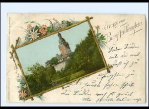 V1682-065/ Burg Falkenstein Harz Passepartout AK ca.1900
