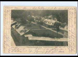 Y19523/ Inor bei Stenay Seuchenlazarett, Krankenbaracken AK WK1 1915 Frankreich