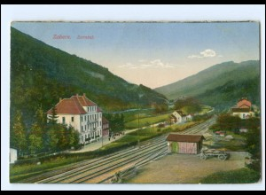Y18976/ Zabern Elsaß Zorntal Eisenbahnstrecke AK 1918