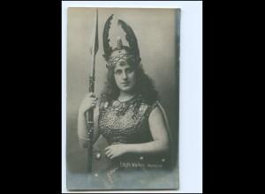 Y18974/ Opernsängerin Edyth Walker Walküre von Richard Wagner Foto AK ca.1912