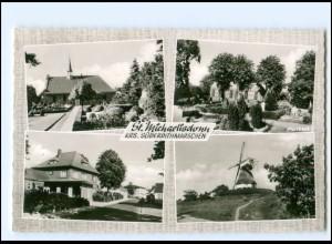 Y18916/ St. Michaelisdonn Kirche Windmühle AK ca. 1960-65