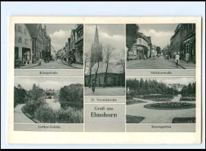 Y18955/ Elmshorn Mühlenstr., Königstr. AK 50er Jahre