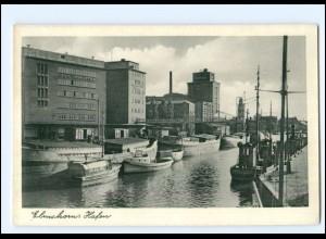 Y18954/ Elmshorn Hafen Ak ca. 1950