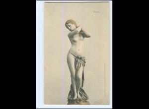 Y18938/ Venus Skulptur, plastisches Kunstwerk AK ca.1900