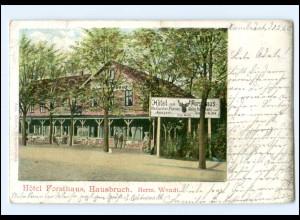 Y18968/ Harburg Hotel Forsthaus Hausbruch AK 1903