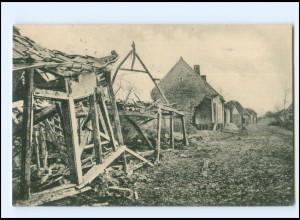Y18929/ Fouquescourt zerstört 1. Weltkrieg Frankreich AK 1918