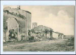 Y18930/ Etong zerstört 1. Weltkrieg Frankreich AK 1915
