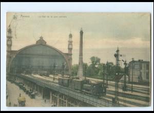 XX13707/ Anvers Gare Centrale Bahnhof Belgien AK 1910