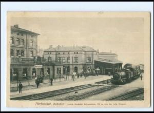 XX13512/ Herbesthal Grenzbahnhof Deutschland - Belgien AK 1915