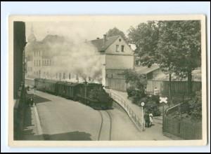 XX13493-084/ Reichenbach Vogtl. De Rollbock Eisenbahn Foto AK 1957