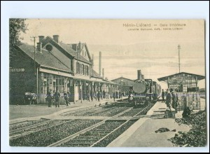 XX13561/ Henin-Lietard La Gare Bahnhof Eisenbahn Frankreich AK 1916 -621-