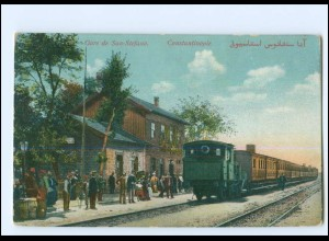 XX13549/ Constantinople Gare de San-Stefano Bahnhof Türkei AK Marine Schiffspost