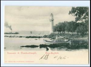 XX13702/ Constantinople Leuchtturm Türkei AK 1902