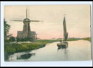 XX13712/ Windmühle Ostfriesland Am Fehntjer Tief AK ca.1910
