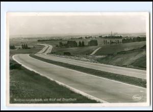 XX13514/ Reichsautobahn Blick auf Ingolstadt Foto AK ca.1938
