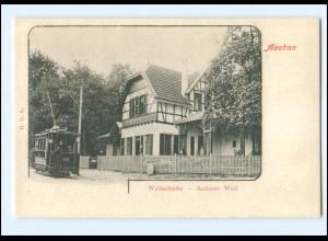 XX13704/ Aachen Waldschenke Straßenbahn AK ca.1900