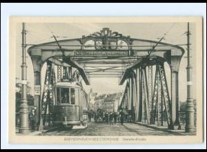 XX13520/ Bremerhaven Geestebrücke Straßenbahn AK ca.1912