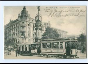 XX13522/ Frankfurt M. Kaiserstr. Straßenbahn AK 1909