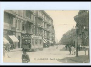XX13523/ Alexandrie Ramleh Station Street Tram Straßenbahn AK Ägypten ca.1912