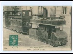 XX13542/ Paris Tramway de Versailles Crue de la Seine Hochwasser AK