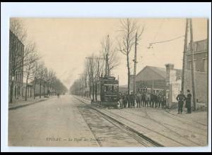 XX13574/ Epinay Le Deport des Tramways Straßenbahn AK ca.1910