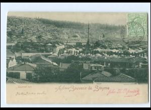 XX13572/ Souvenir de Smyrne Quartier turc Türkei AK 1905