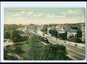 XX13550/ Hamburg Blick a.d. Dammtorbahnhof Eisenbahn AK ca.1910