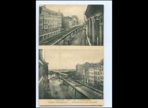 XX13706/ Hamburg Hochbahn Rödingsmarkt - Baumwall AK ca.1912