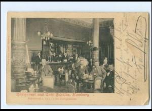 XX13533/ Hamburg Restaurant und Cafe Schülke, Holstenwall 1 AK 1903