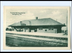 S2658/ Haileybury, Ont. T. & N.O. Railway Station Bahnhof Kanada Canada