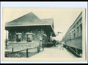 S2660/ Temagami Ontario T. & N.O. Depot Bahnhof Kanada Canada