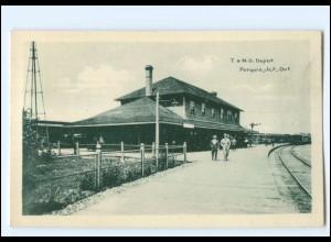 S2659/ Porquis, Jct. Ontario T. & N.O. Depot Bahnhof Kanada Canada