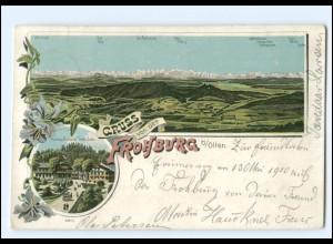 S2666/ Gruß von der Frohburg bei Olten Litho AK 1900 Schweiz