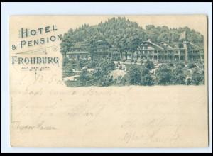 S2670/ Frohburg auf dem Jura Hotel & Pension Litho Ak 1900
