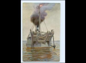 """Y19122/ Hamburg Hafen Bergungsfahrzeug """"Unterelbe"""" Marine Gallerie AK"""